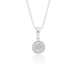 Sterling Silver Glittering Star Diamond Pendant on Chain