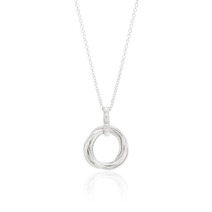 Sterling Silver Diamond Pedia Pendant