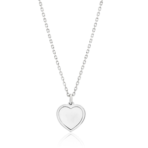 Sterling Silver Mother Of Pearl Pendant With 45cm Chain