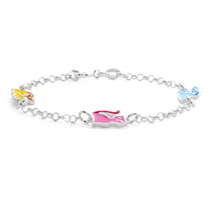 Sterling Silver Assorted 16cm Bracelet
