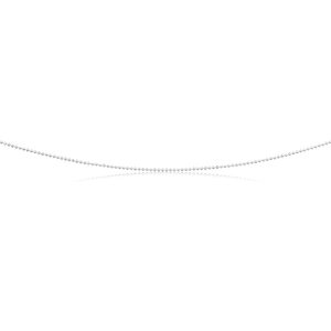 Sterling Silver Dicut Ball 80cm Chain 120 Gauge
