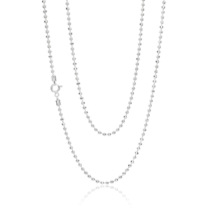 Sterling Silver Diamond Cut Ball 80cm Chain 250 Gauge
