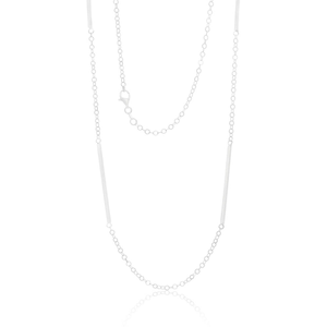 Sterling Silver Fancy Bar Trace Chain