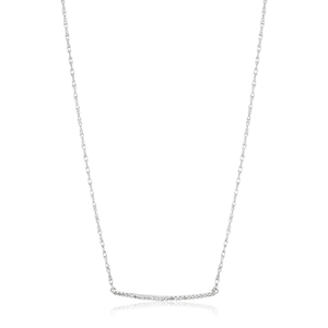 Sterling Silver Diamond Pendant With 45cm Chain