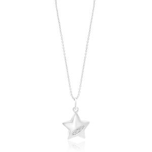 Hot Diamond Sterling Silver Shoot Star Diamond Pendant