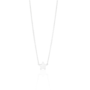 Sterling Silver Fancy Star Pendant on 45cm Chain