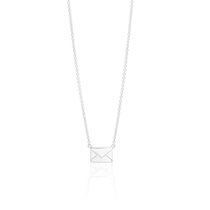 Sterling Silver Fancy Letter Mail Pendant on 45cm Chain