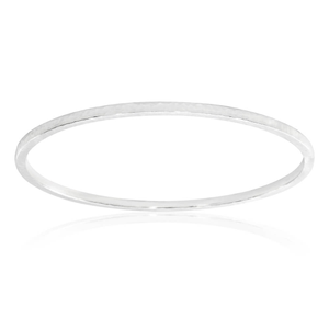 Sterling Silver Simple 65mm Bangle
