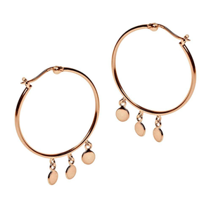 Pastiche Gold Plated Sterling Silver Hoop Earrings