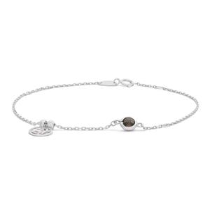Sterling Silver Smokey Topaz Bracelet