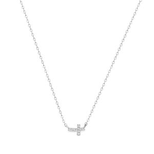 Georgini Zirconia Side Cross Pendant