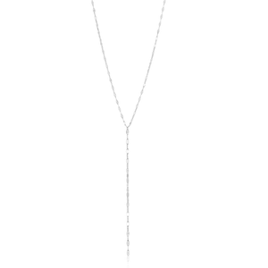 Sterling Silver Fancy Lariat Necklace