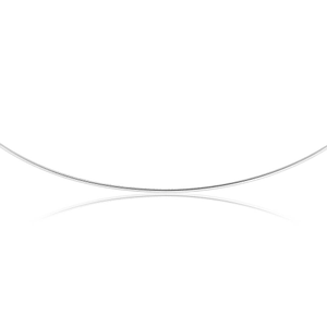 Sterling Silver Omega Flat 2mm x 45cm Chain