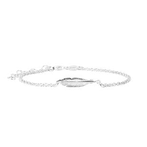 Sterling Silver Fancy Feather Bracelet 16+3cm