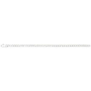 Sterling Silver 150 Gauge Curb Chain 55cm