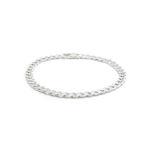 Sterling Silver 150 Gauge Curb Bracelet 21cm
