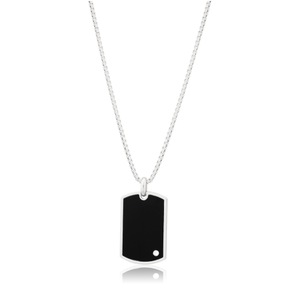Sterling Silver Rhodium Plated Pendant