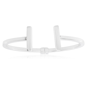 Sterling Silver Plain T-Bar Torque Bangle