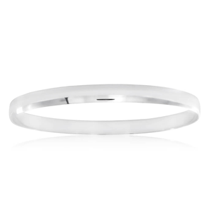 Sterling Silver Plain 65mm Bangle