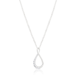 Sterling Silver Cubic Zirconia Infinity Pendant