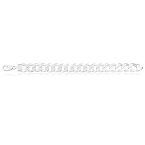 Sterling Silver Flat Curb link Bracelet 350 gauge 23cm