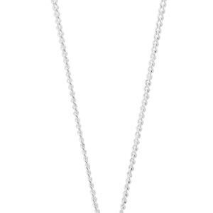 Sterling Silver Rhodium Plated Cubic Zirconia Circle Infinity Pendant + 45cm Chain