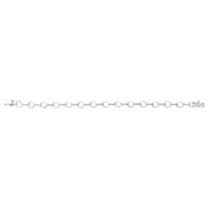Silver and Diamond 18.5CM Bracelet
