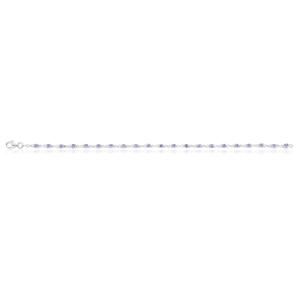 Sterling Silver 19cm Tanzanite Bracelet