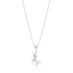 Sterling Silver Unicorn Pendant with 45cm Chain