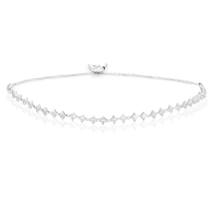 Sterling Silver 26cm Adjustable Zirconia Bracelet