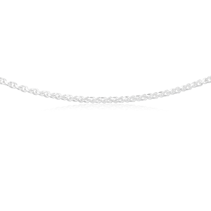 Sterling Silver 55cm Fancy Twisted Curb 140 Gauge Chain