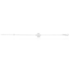 Sterling Silver 21cm Cactus Bracelet
