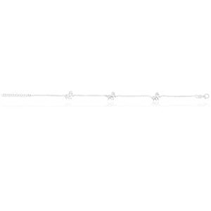 Sterling Silver 19cm Pony Bracelet