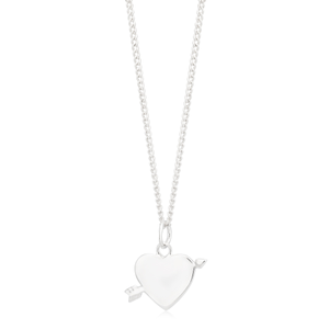 Sterling Silver Heart with Arrow Pendant