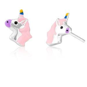 Sterling Silver Unicorn Head Studs