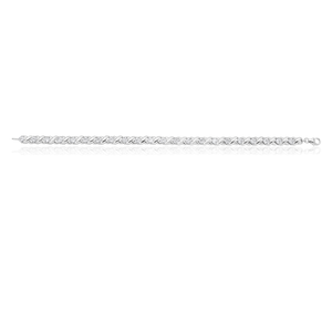 19cm Sterling Silver Zirconia Fancy Bracelet