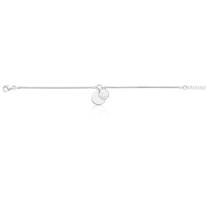 Sterling Silver Fancy Heart Charm 19.5cm Bracelet