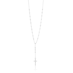 Sterling Silver 50cm Chain with Cross Drop Pendant