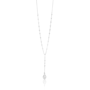 Sterling Silver 49cm Chain with Madonna Drop Pendant