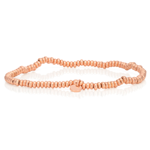 Rose Gold Plated Sterling Silver Bead Bracelet