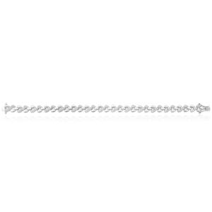 Sterling Silver 0.20 Carat 19cm Diamond Bracelet