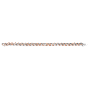 Sterling Silver 2.00 Carat Champagne Diamond 17.5cm Bracelet