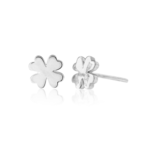 Sterling Silver 4 Leaf Clover Stud Earrings