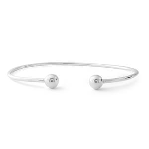 Sterling Silver Plain Torque Bangle