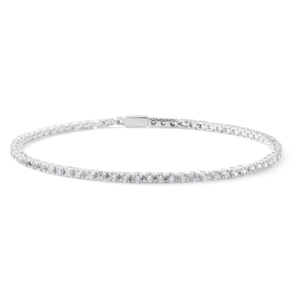 Sterling Silver Zirconia Claw Set Tennis Bracelet