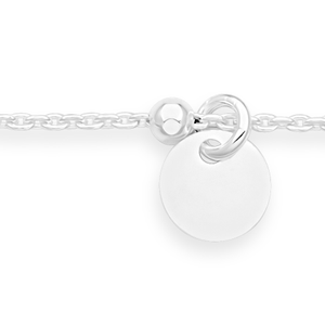 Sterling Silver 25cm Multi Disc Charm Anklet