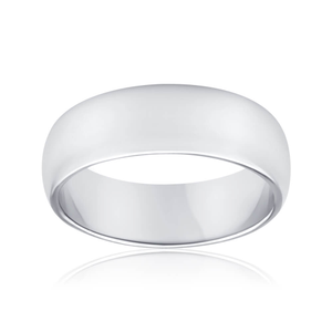 Sterling Silver Plain Domed Band Ring *No Resize*