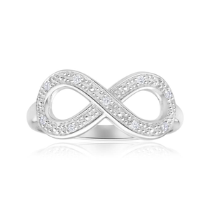 Sterling Silver Infinity 0.05ct Diamond Ring