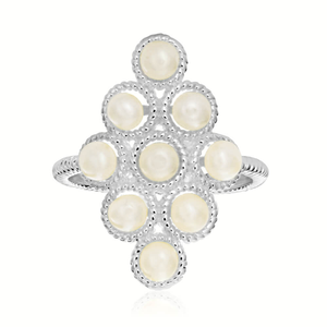 Streling Silver Fresh Water Pearl Ring