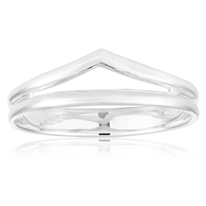 Sterling Silver Open Chevron Ring